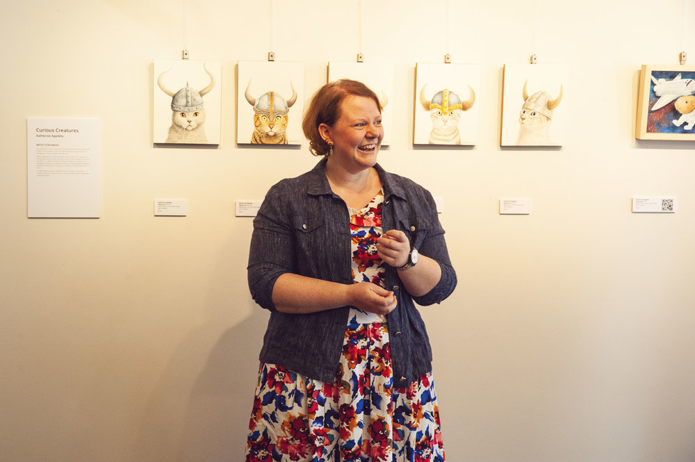 Opening my solo exhibition.  Image supplied by    Available Light Images.