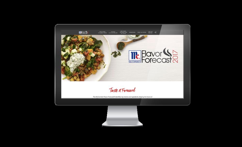 Website for Flavor Forecast