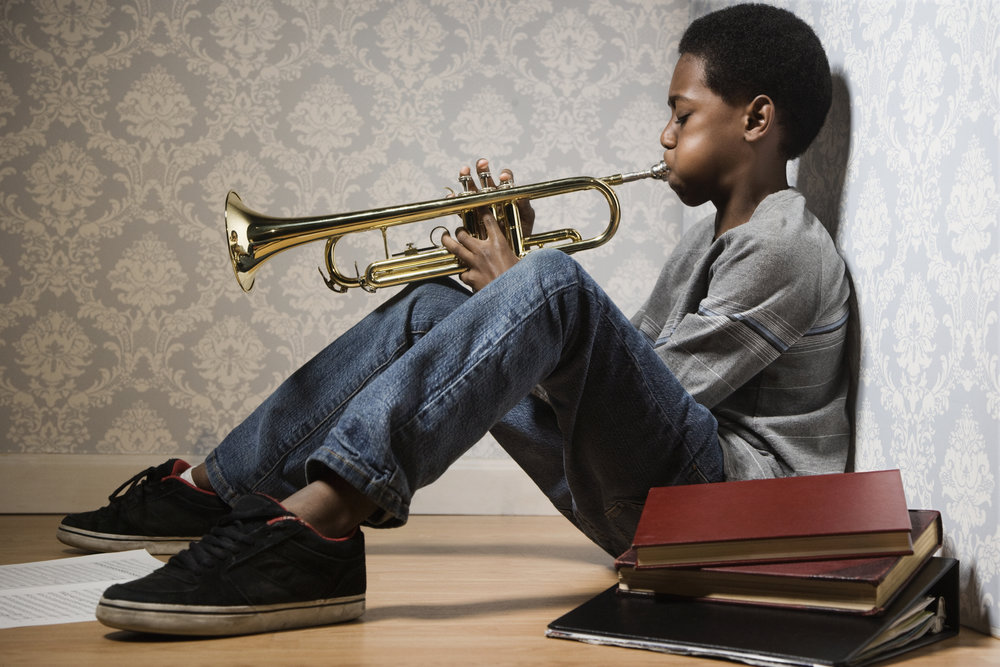 Trumpet - Played by the likes of Miles Davis, Louis Armstrong, and home-grown talent James Morrison - the trumpet is the sound of jazz. While our classes focus primarily on the instrument's integration into a band or brass ensemble, plenty of opportunity still exists for the student to practice solo playing, and learn how to stand out from the crowd like only the trumpet player can.