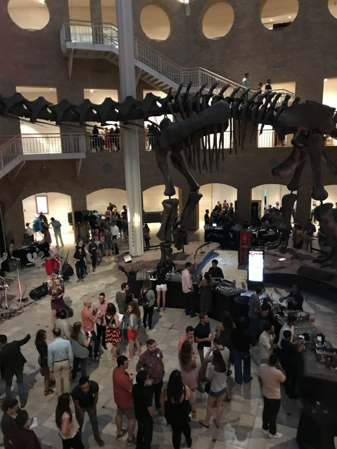 Dinosaurs, cocktails, and beautiful people galore inside the museum
