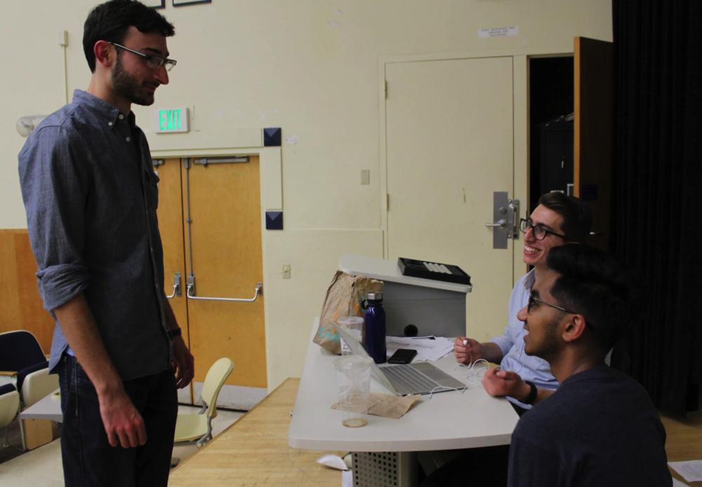 Greenan with Parli at UC Berkeley's teammates Henry Tolchard & Ryan Rashid on day two