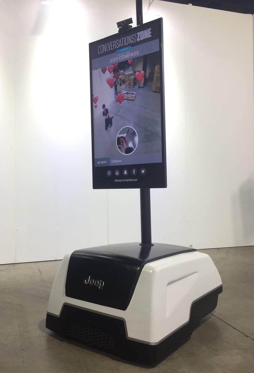 "Jeep's Telepresence Robot aka ""Chatbot"""