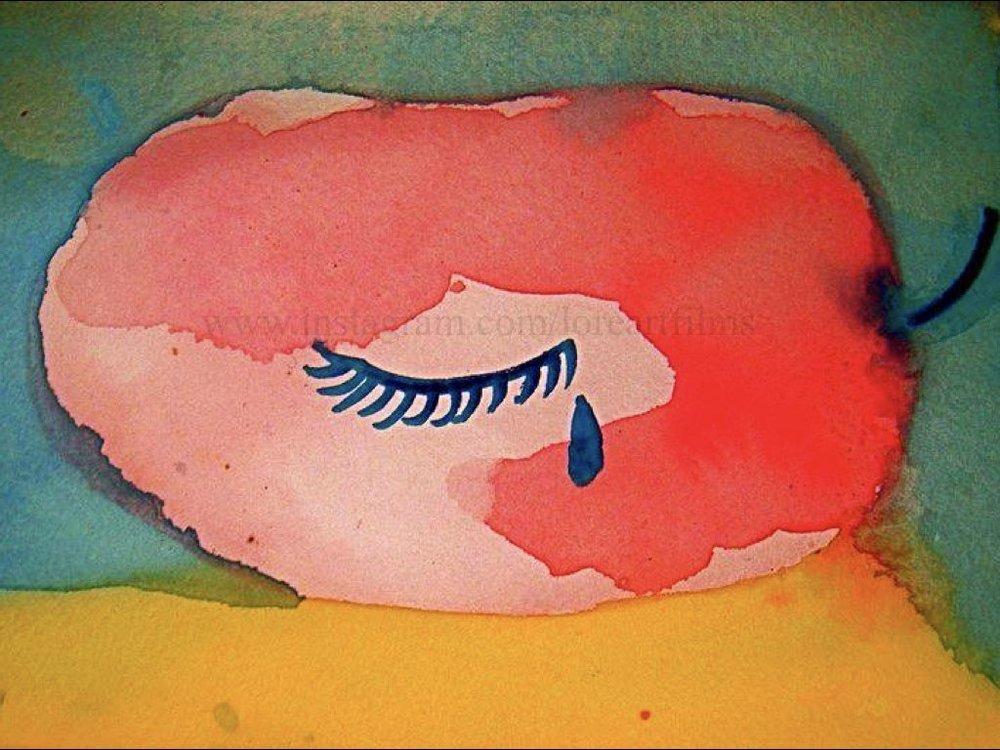 Apple Of My Eye   Watercolor on paper. Digital.  Digital $50