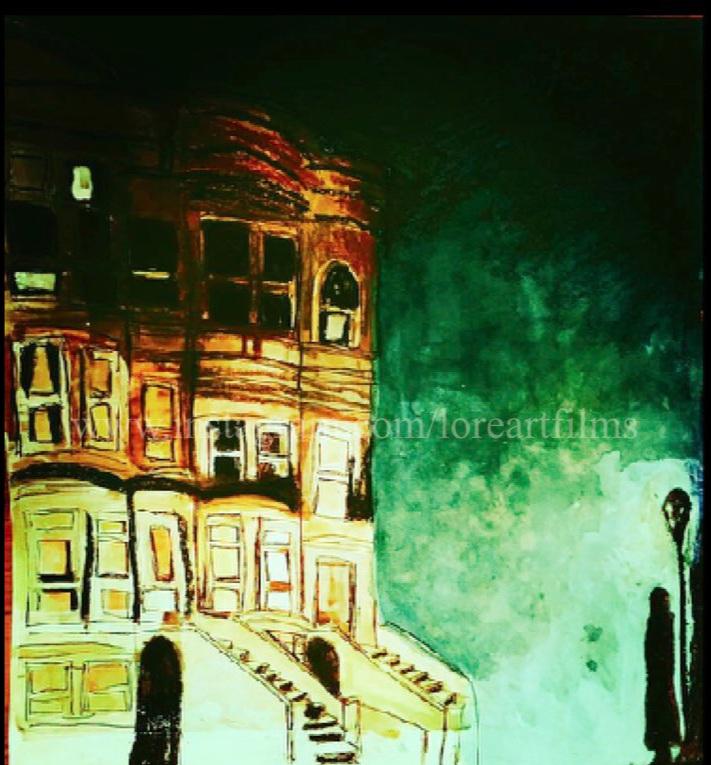 The Man in The Dark    Watercolor on paper. Digital.    Digital $50