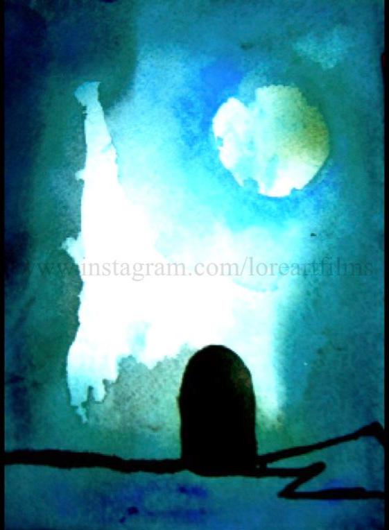 Alice and The Little Door   Watercolor on Paper. Digital   Digital $50