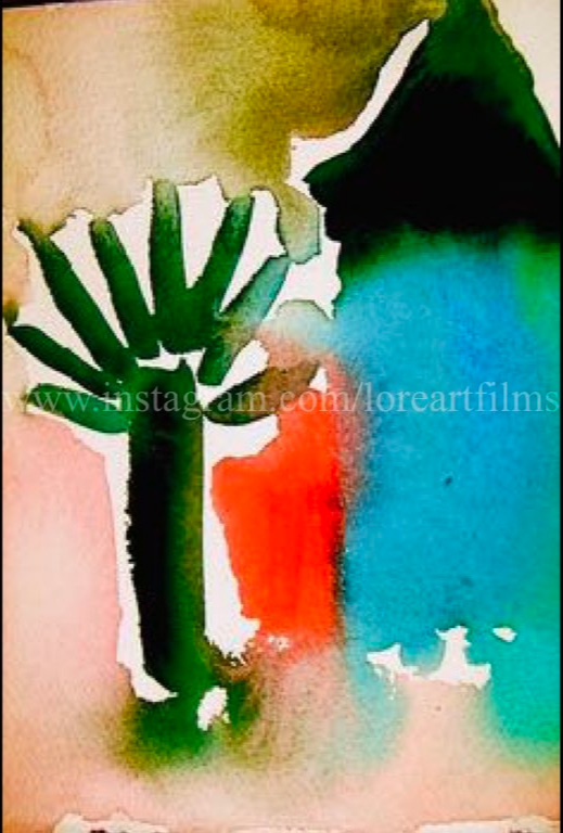 Palm Beach  Watercolor on paper. Digital.  Digital $50