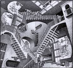 Sourced from http://magazine.art21.org/2010/08/03/the-paradoxical-art-of-inception/relativity-escher/