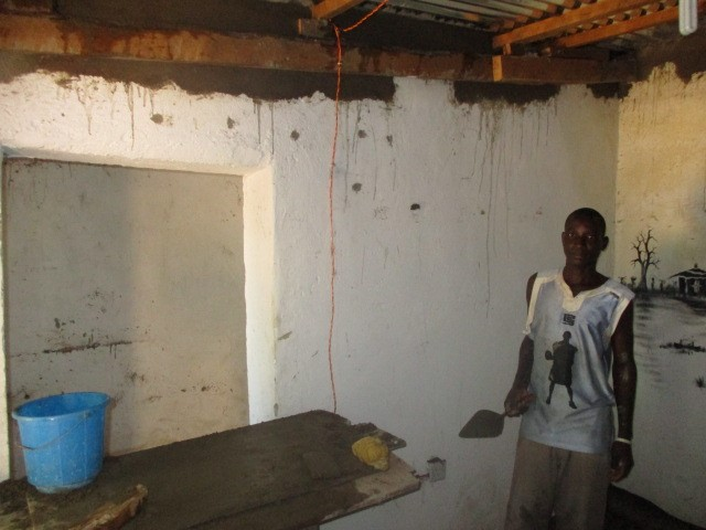 Repairs being carried out on the living quarters