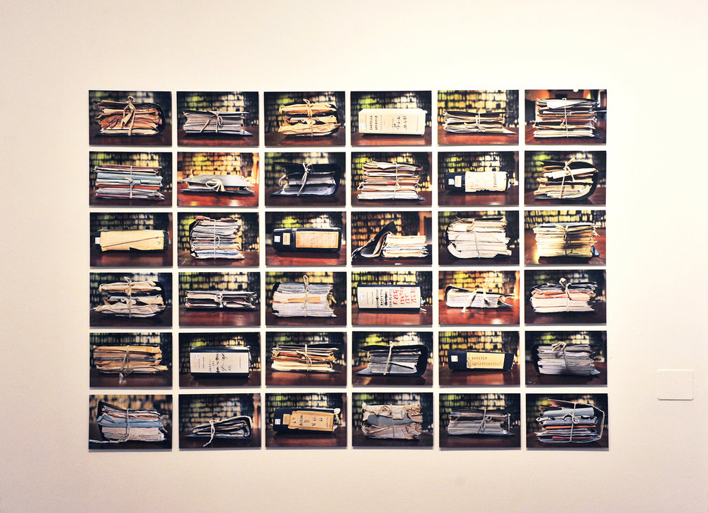 "Memorandus , 2016, n°36 pigment print mounted on aluminium, 13""x9"" each"