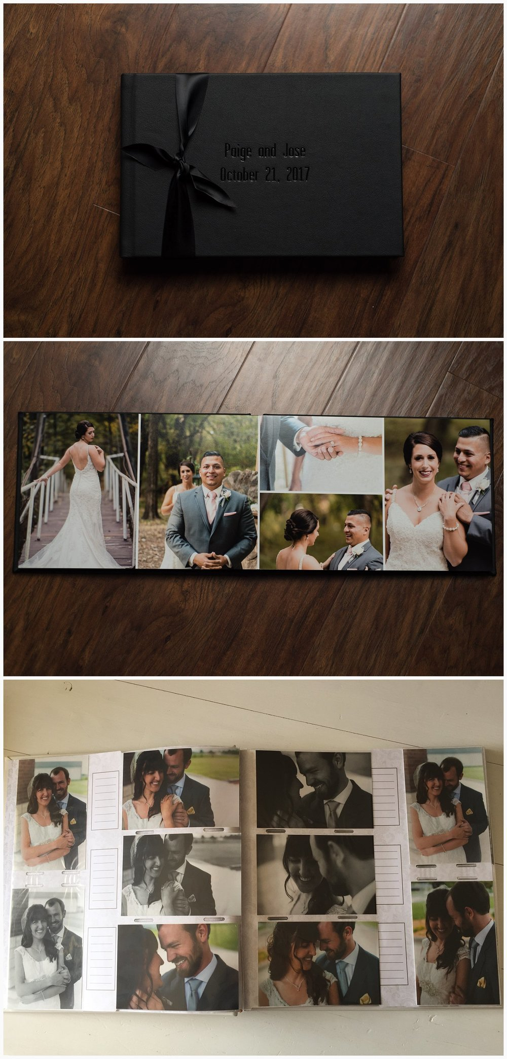 The top two pictures are one of our sample albums. The bottom picture is our personal wedding album. I really don't think I need to say anything else.