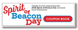 Coupon books with deals from local businesses will be sold at select stores after the Spirit of Beacon Day for $10. Email spiritofbeacon@gmail.com for details