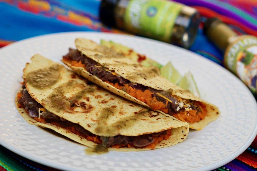 Picaflor Live-Culture Sweet Potatoe and Black Bean Tacos.jpg