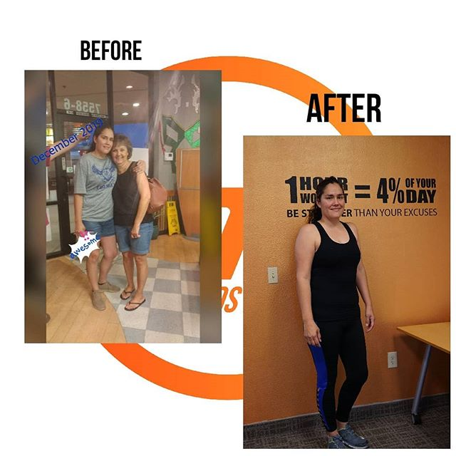 #TransformationTuesday and Client Spotlight! . Tasha has been with us for a few months now and we're so proud of what she's accomplished! She has been putting in the work and dedication each week. Not only has she lost weight, dropped over 5 inches and improved her energy levels, but we are extremely excited that she is able to exercise again pain-free! . When Tasha came in, she was just getting back into physical activity after having several jaw surgeries. We were able to work around her limitations and make sure the workouts pushed her enough without going overboard. As of March, Tasha no longer experiences pain or discomfort while exercising and brings an awesome energy to the gym! We can't wait to see what the rest of 2019 and beyond has in store for Tasha!