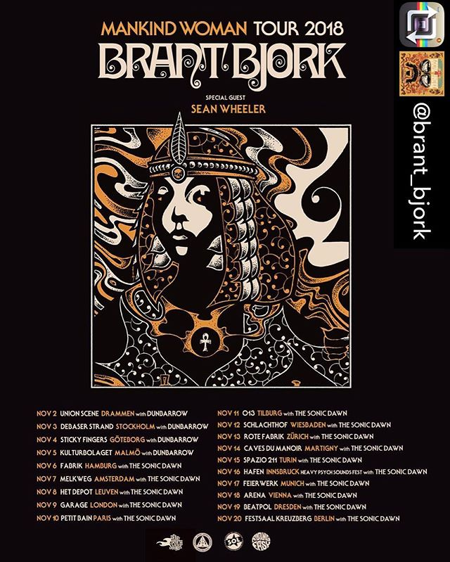 Repost from @brant_bjork using @RepostRegramApp - Very excited to announce that @dunbarrow and @thesonicdawn will join @otherdesertcities, the low desert punks and myself on our upcoming European tour. Two awesome bands, two awesome labels, 19 rad shows! Hope to see you there!! @brant_bjork @dunbarrow @thesonicdawn @soundofliberation @heavypsychsounds_records @easyriderrecord @stonedanddusted Poster design by @robingnista  #brantbjork #stonedanddusted