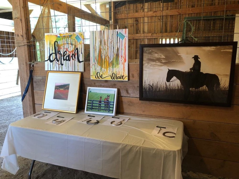 Art portion of the silent auction.