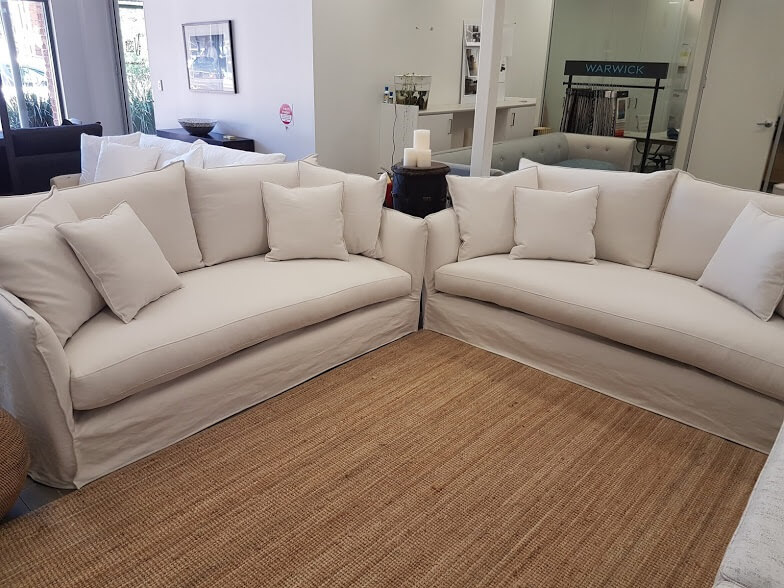 Muscat 3 seater sofa pair  Marlowe & Finch