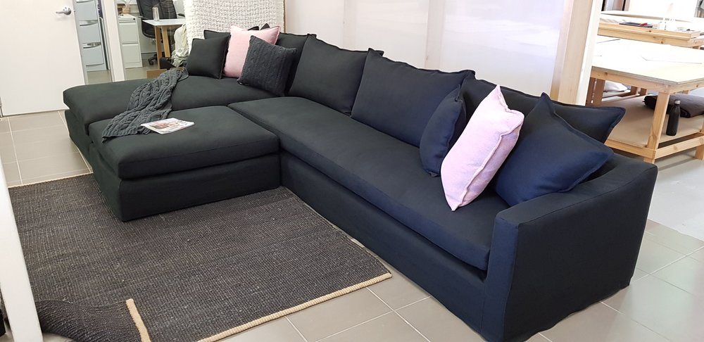 Karen sofa + Chaise & ottoman for Media room