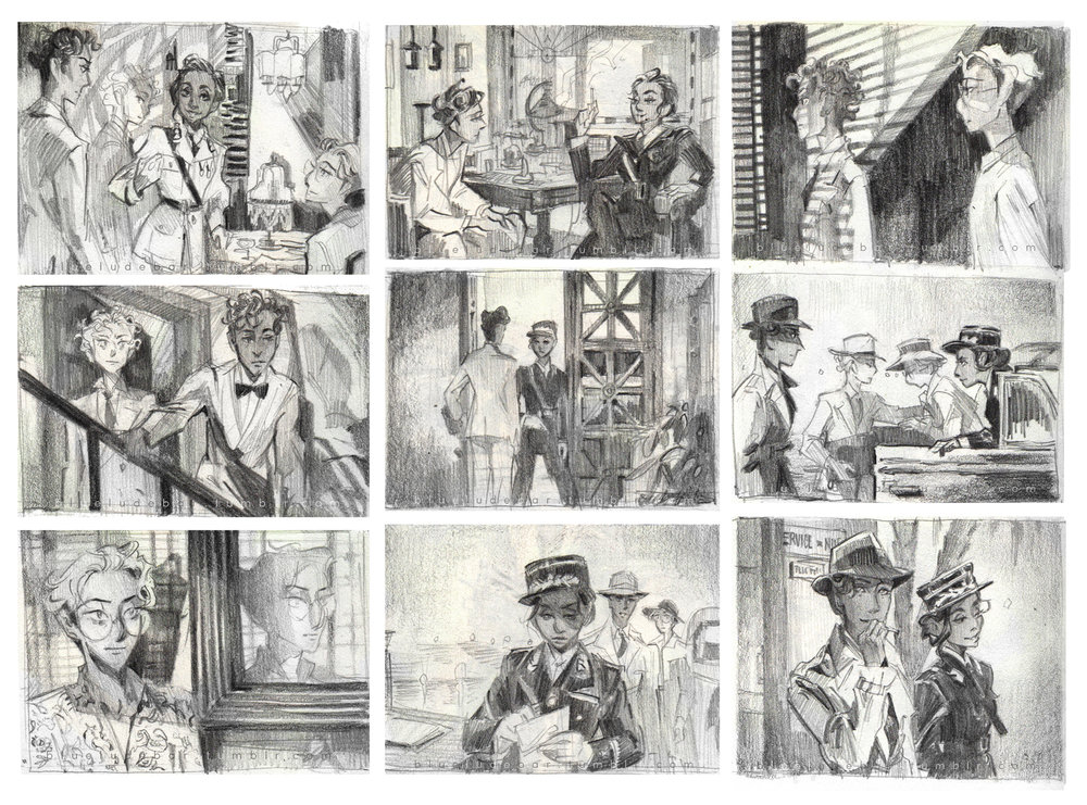 Studies from CASABLANCA (1942)