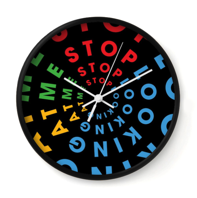 STOP LOOKING   Inspired by David Lynch's Blue Velvet, this clock helps break your codependence with time.