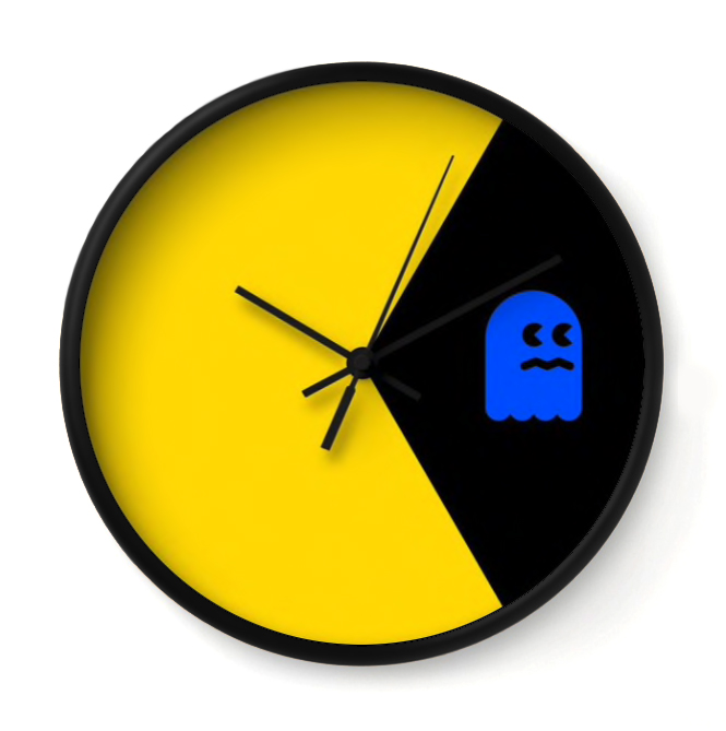 "GAME TIME   This yellow rascal takes a bite out of video game history. ""I ain't afraid of no ghost.""     Buy Online"