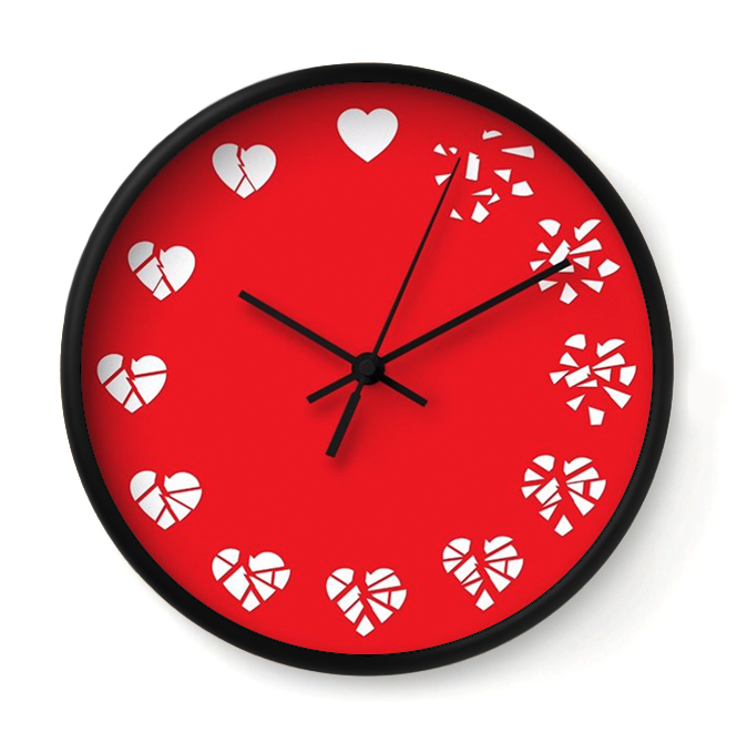 TIME HEALS ALL WOUNDS   Much like your mom, this clock is always here to remind you that heartbreak doesn't last forever.