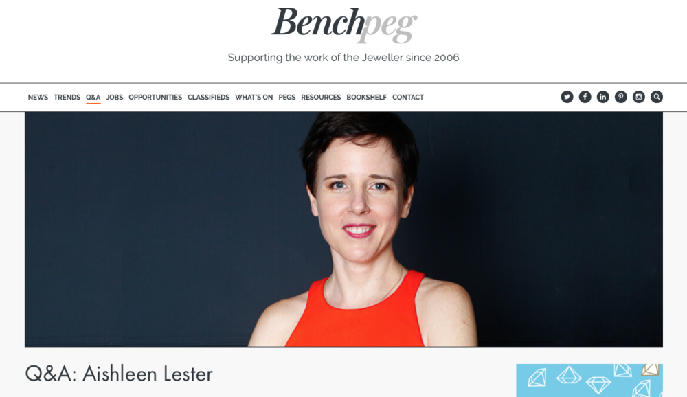 Le Ster in the press Le Ster Lester Jewellery Benchpeg