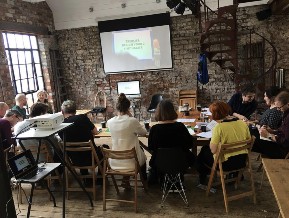 Social snippets from Tiny Habits Workshop in Bristol.   This is a social media snapshot of my workshop this weekend, where I coached Prof BJ Fogg's extraordinary behaviour change method Tiny Habits®:  Held at the awesome  Forge Bristol , last Saturday the 10th March..  ... [Read more...]