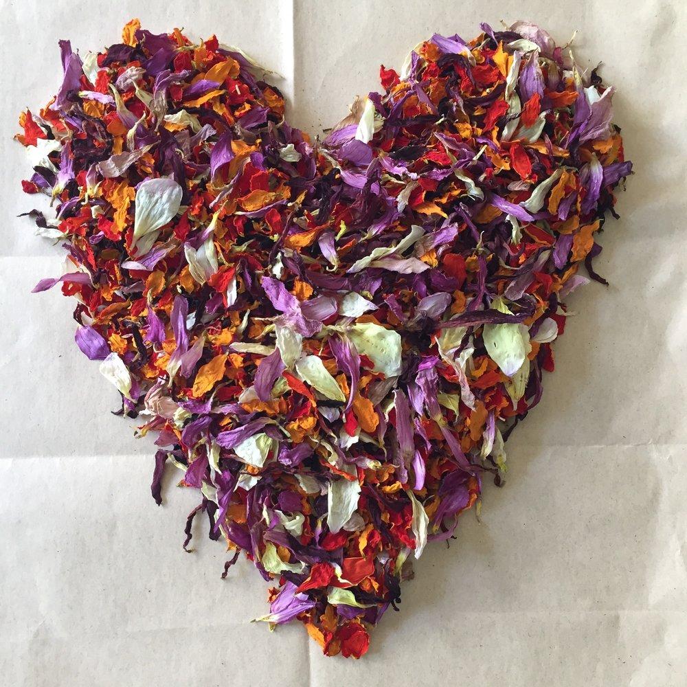 REF:105   confettis de fleurs  flower confetti