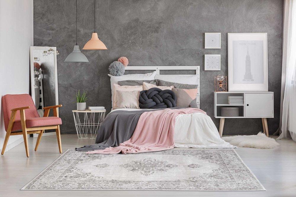 The Khayma Fairfield rug in pale grey from Modern Rugs.jpg