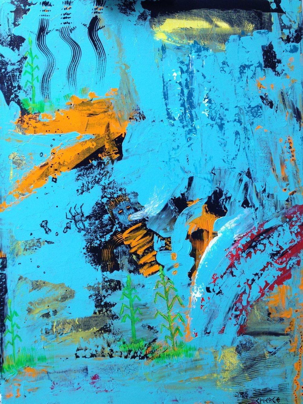 """Kachinas 'Blue Maze'"""