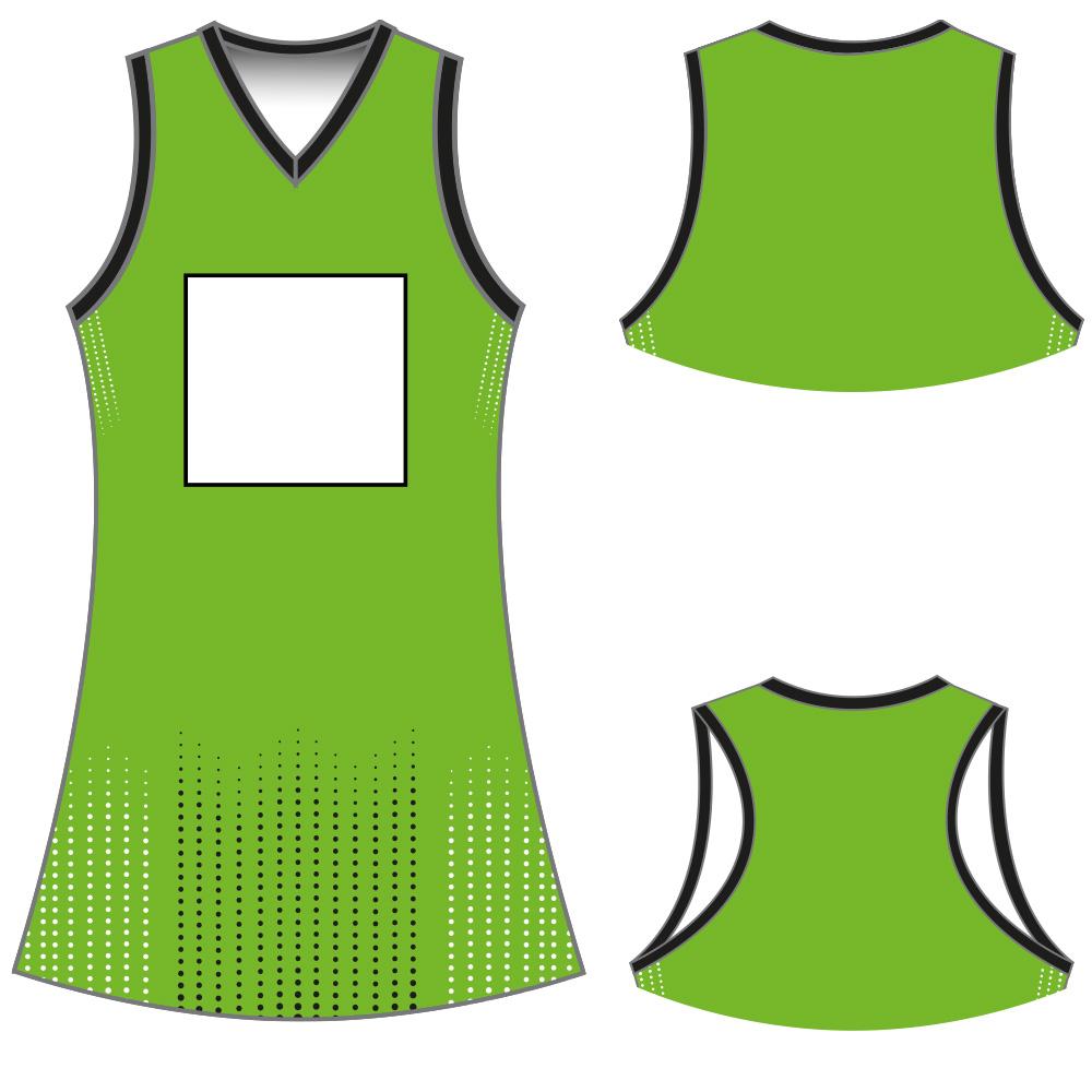 NETBALL DRESS Y50002 - V NECK
