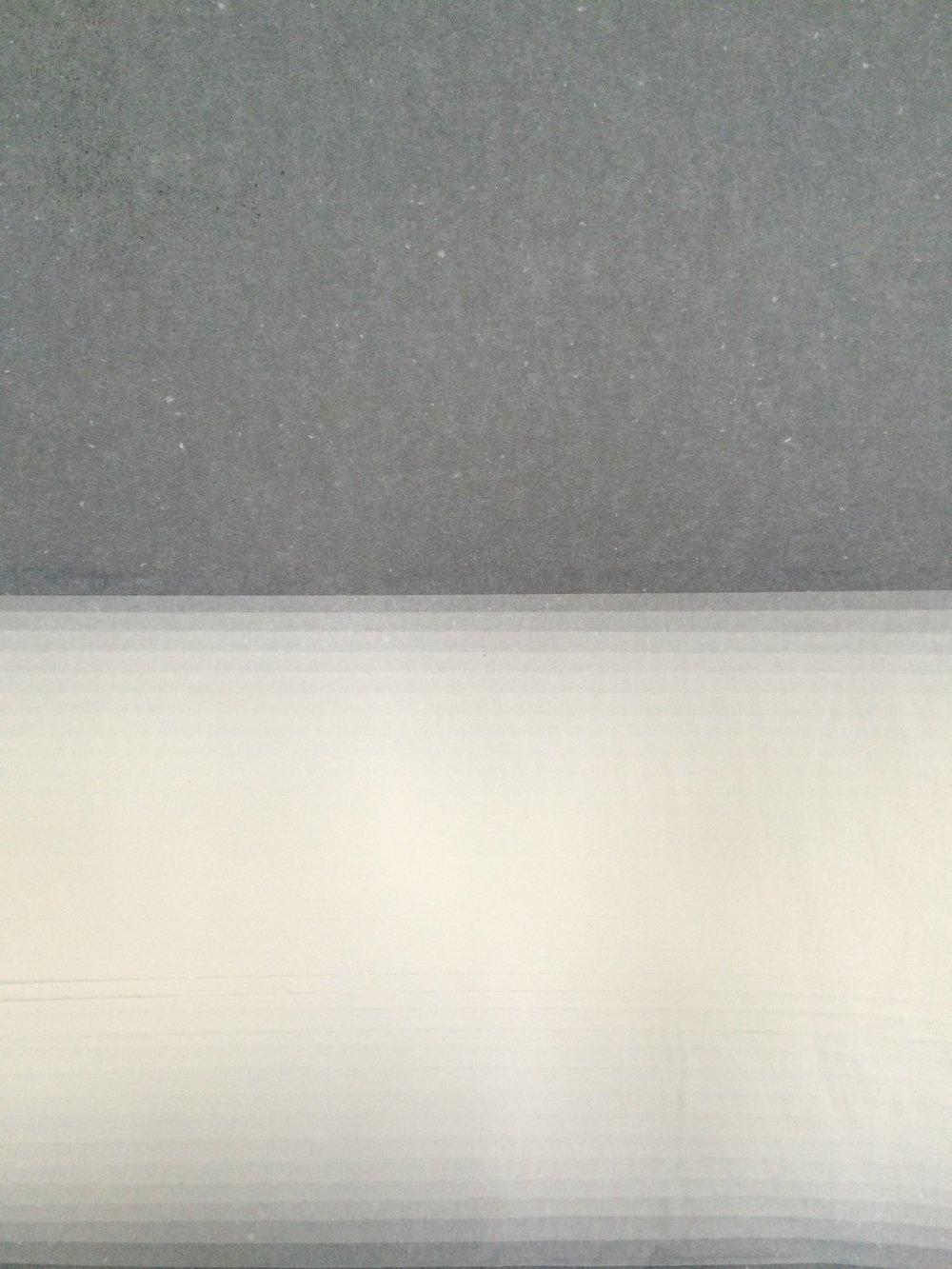 Horizontal Transition   Tissue on Black sugar paper, 49cm x 40cm, 2015