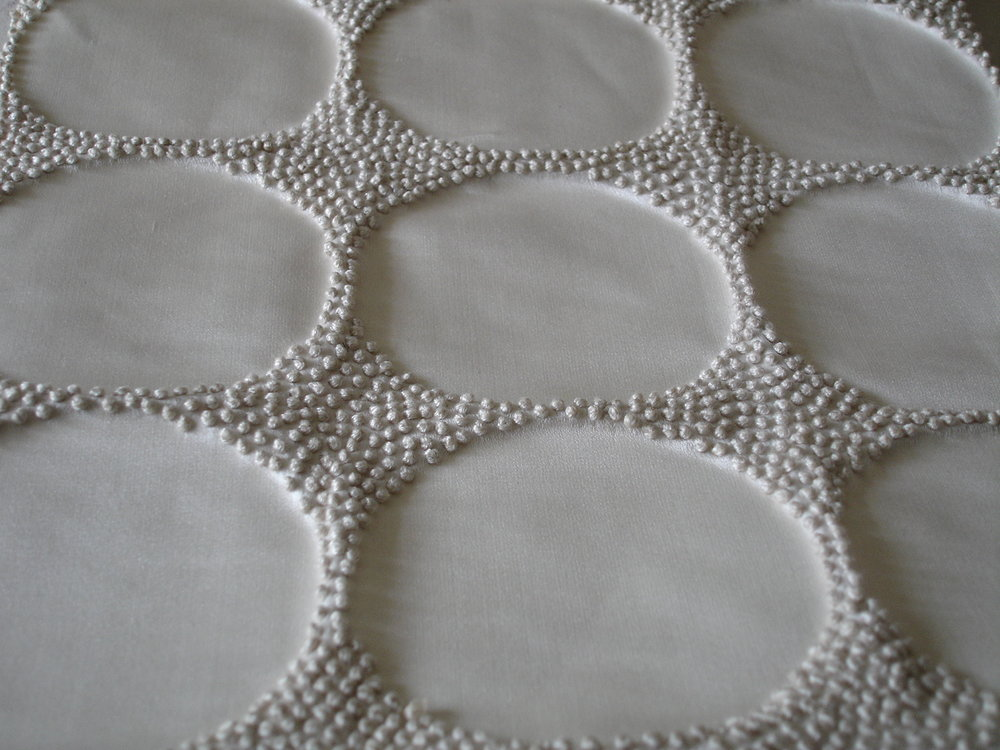 %22Circle%22 (Reverse) - French Knots [F] - Duchess Satin - Ivory:Ivory 1 © Nigel atkinson 1987.jpg