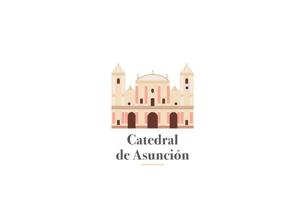 Ilustración Vectorial - Catedral de Asunción