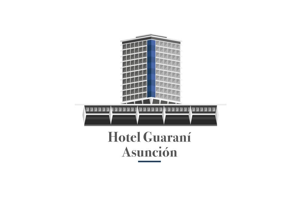 Ilustración Vectorial - Hotel Guarani