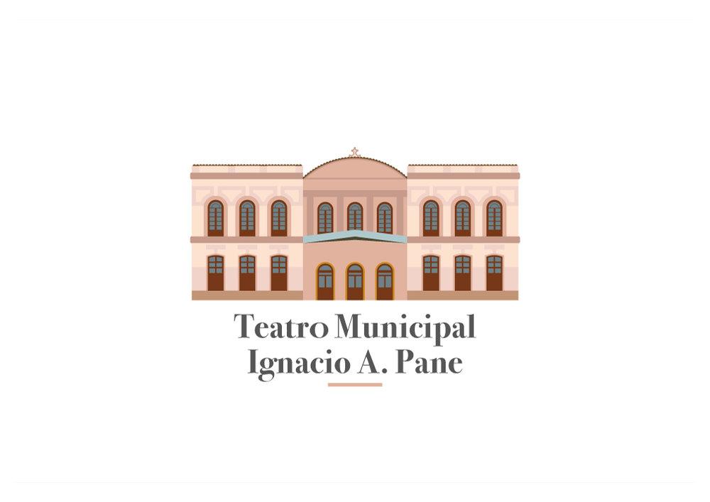 Ilustración Vectorial - Teatro Municipal