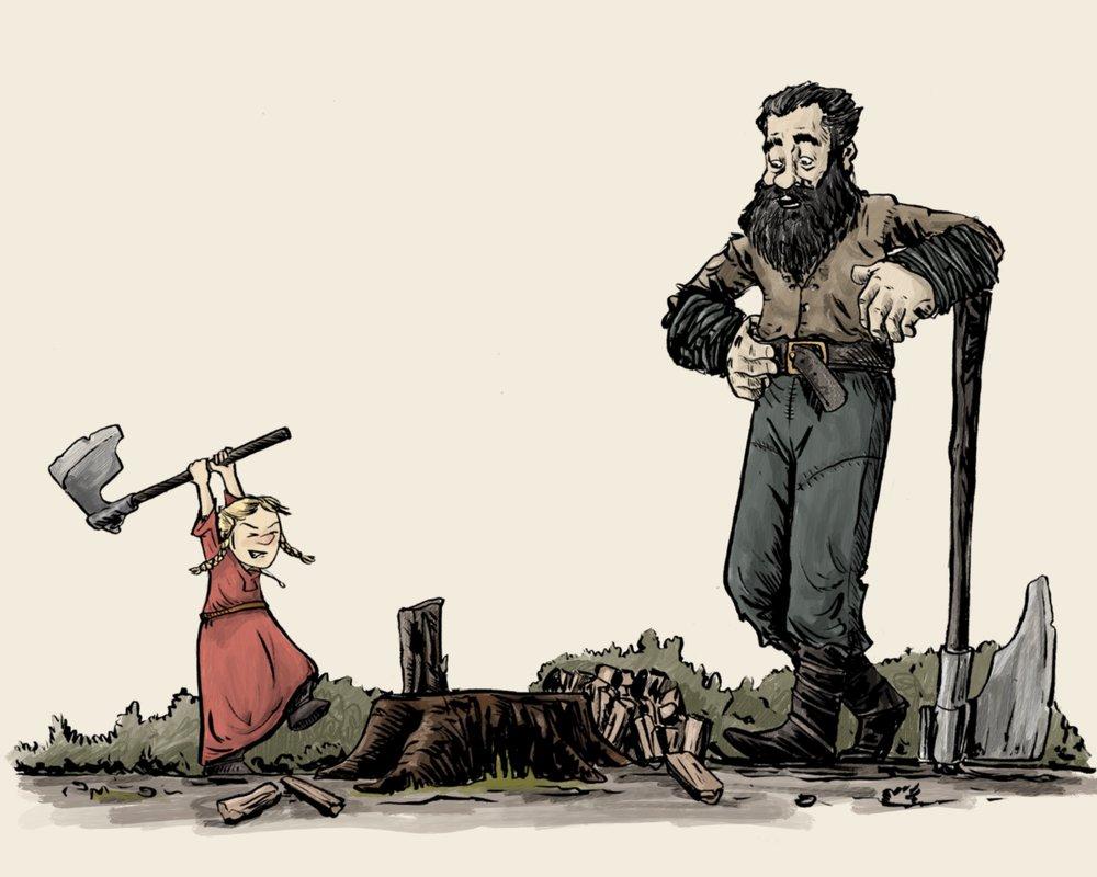Vikingos - Padre e hija