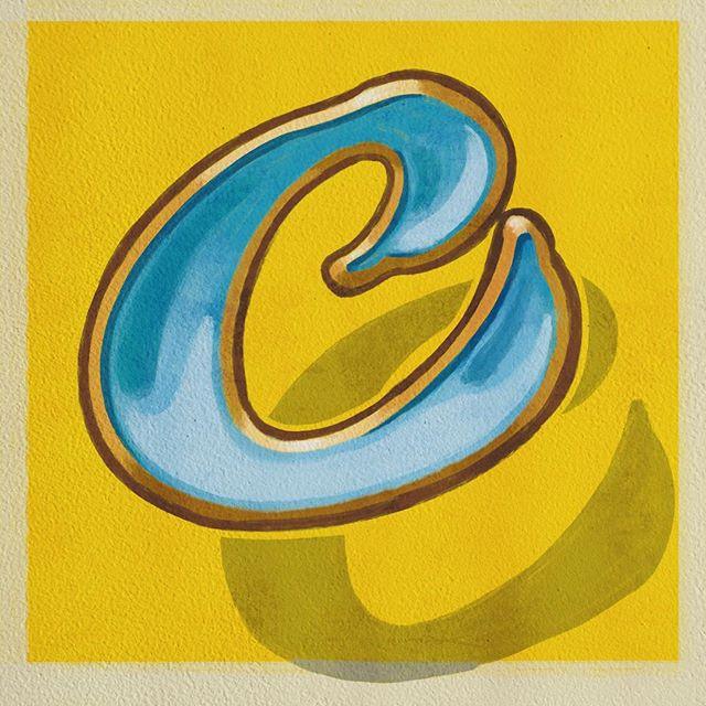 """La """"c"""" y un poco de script. Tercera letra pintada de los 36 que vienen.  #36daysoftype #36days_c #lettering #handlettering #c #letter #typedrawing #script #typedesign #paulobordon #digital #digitalpainting #vintage #vintagelettering #vintagetype #goodtype #thedesingtip"""