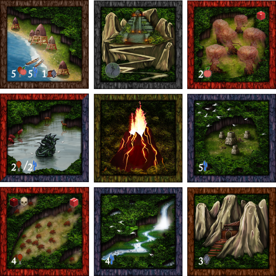 These are just some of the tiles you can use to make up the island!