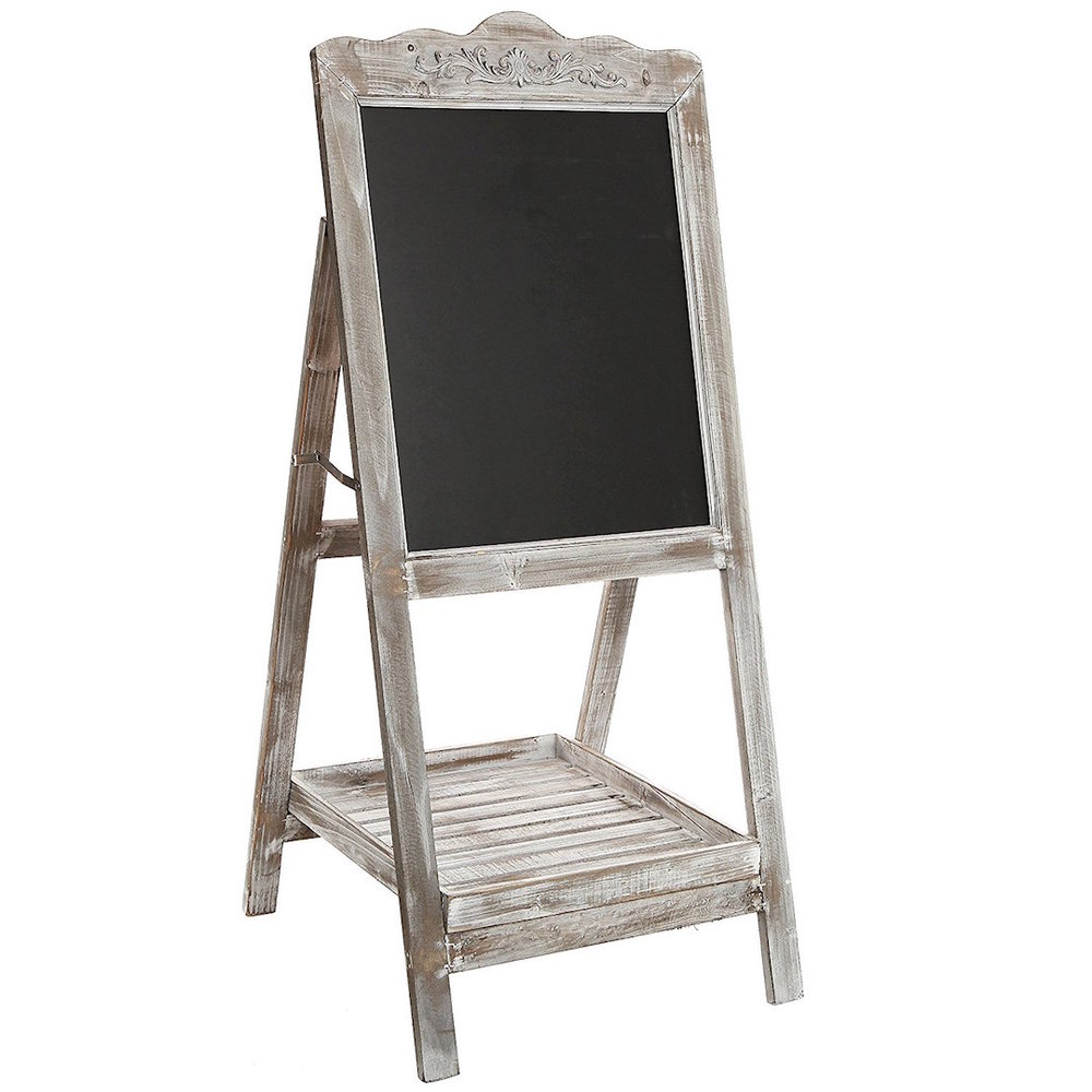 "Rustic Wood chalk board easel   size- 41.75""  Price: $22.50  Inquire about quantity and availability."