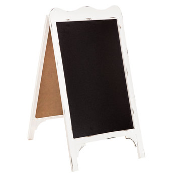 "double sided white chalk board   size- ""  Price: $15.00  Inquire about quantity and availability."