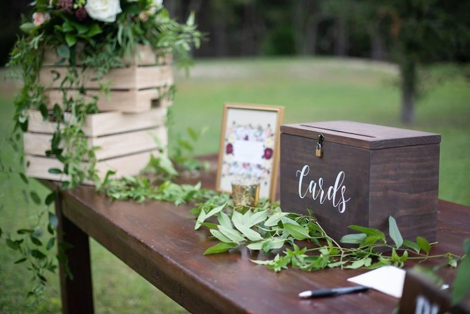 Wedding Card Box with Lock   Price: $10.00