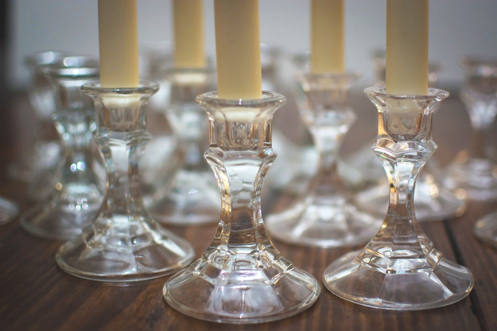 short crystal candlesticks   Price: $.50 Each  Quantity Available: 100