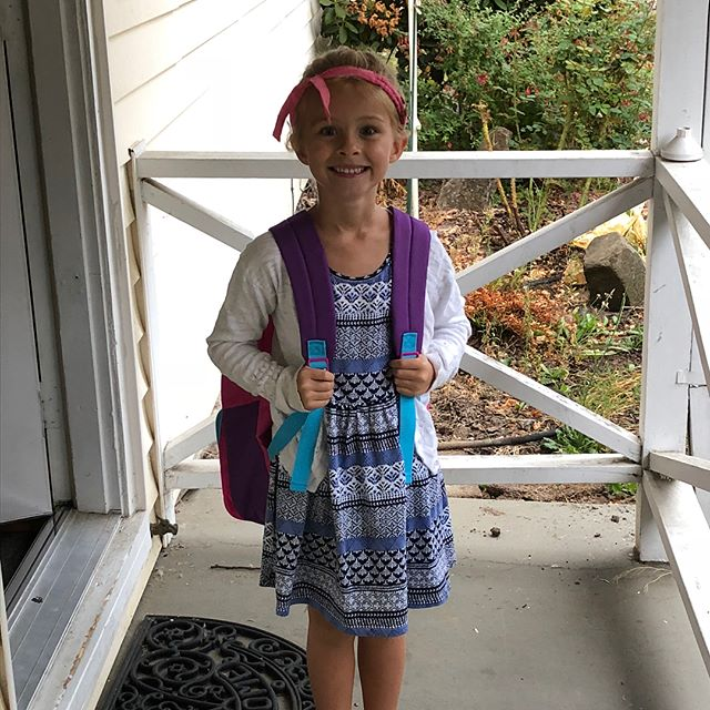 First day of 1st grade @valorschool! So proud of this girl and so excited for her future! Impact isn't just about the impact you will have on the world, but is also about the impact those you influence will have. #generationalimpact #educationmatters #optimalimpact #impactmatters #thankful