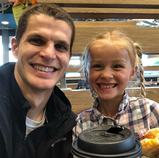 Decided to start carrying on a weekly tradition my dad, @rdjenkins7 used to do with me when I was a kid of taking me to breakfast before school once a week. One on one time with our kids is so important, and easy to forget about when you start adding multiple kids.