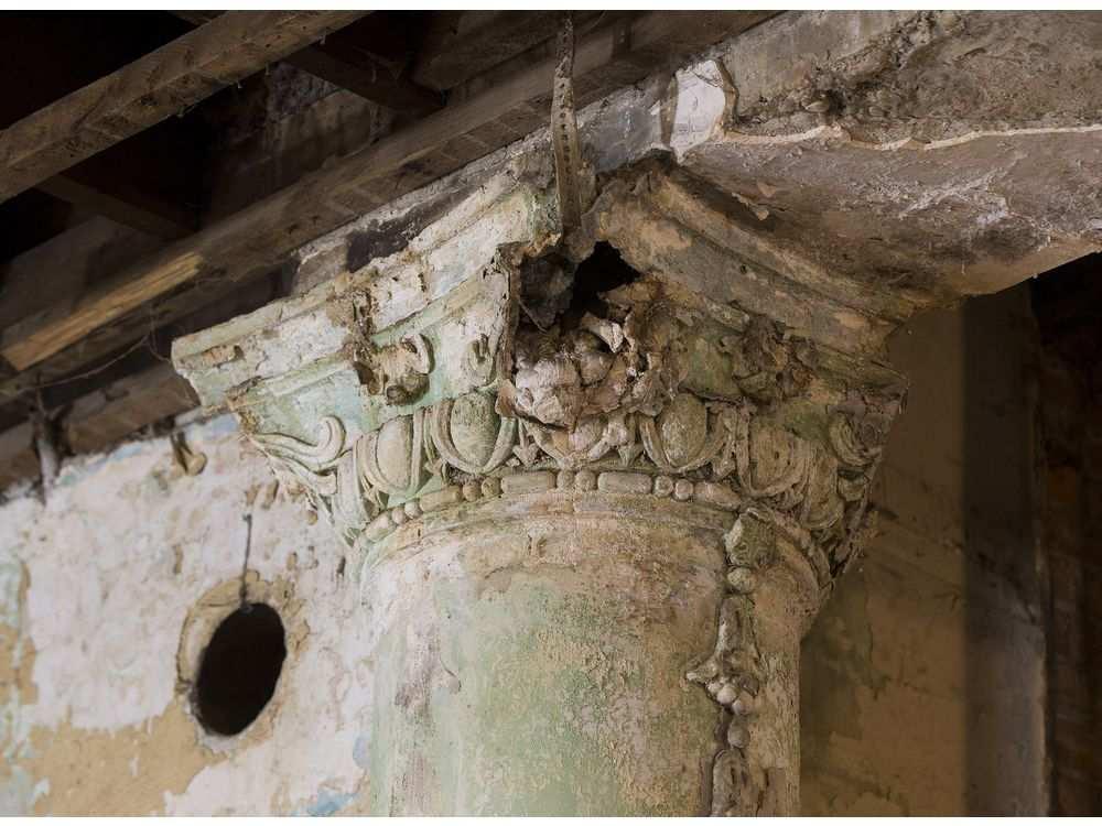Dilapidated columns in the Brighton Block.GREG SOUTHAM /GREG SOUTHAM