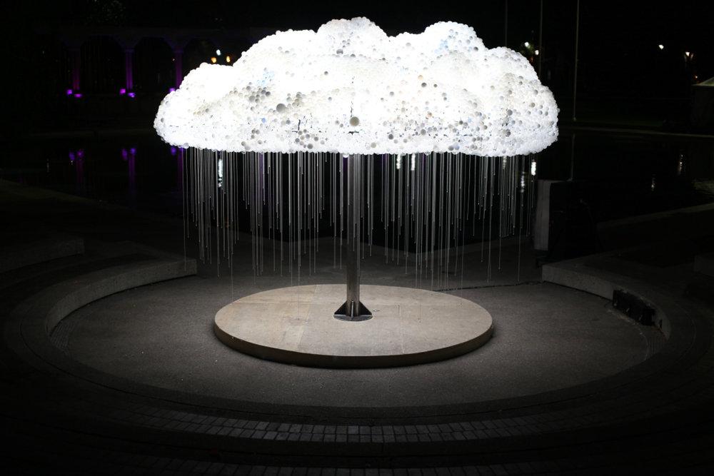 Original CLOUD sculpture at Nuit Blanche Calgary. Photo credit: Doug Wong