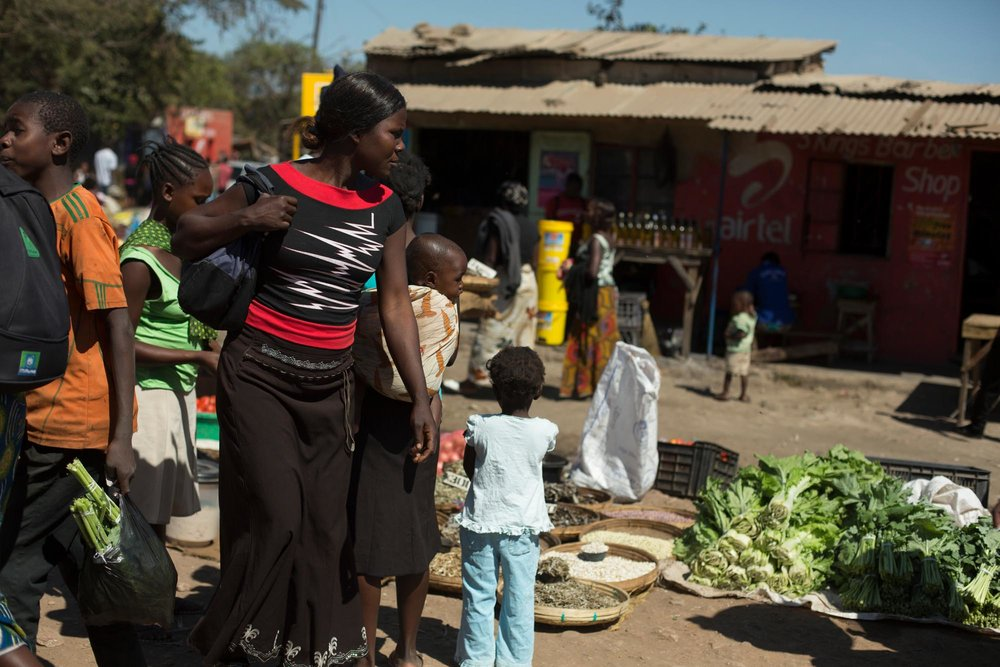 Vegetables at a market, Zambia