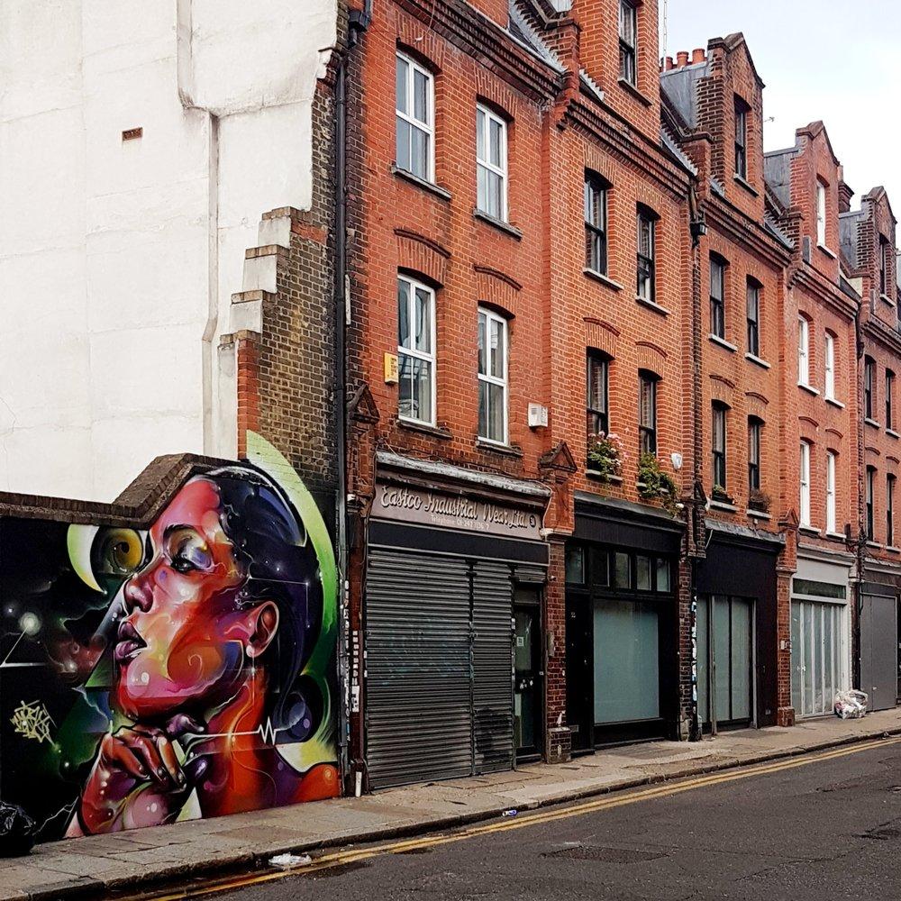 Street art near Brick Lane, London