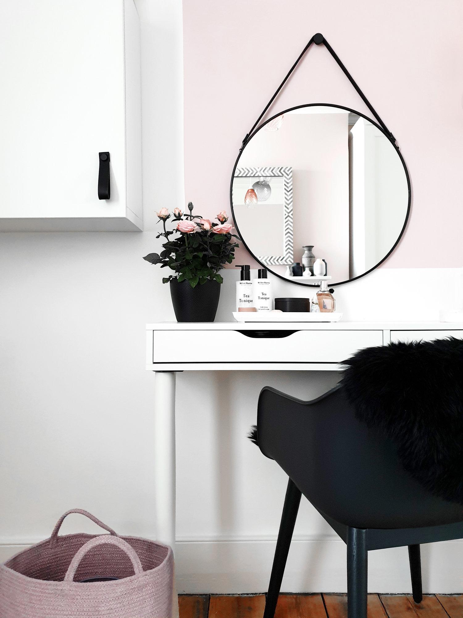 Dressing De Coin Ikea blush & black dressing room refresh — restoring lansdowne